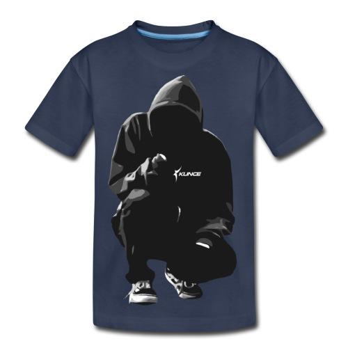 Kunce Clothing Original Hoodie Trace B/W - Kids' Premium T-Shirt