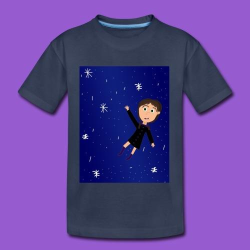 flying space girl - Kids' Premium T-Shirt