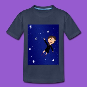flying space girl - Kids' Premium T-Shirt