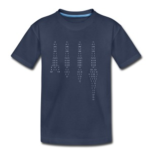 ASCII rocket - Kids' Premium T-Shirt