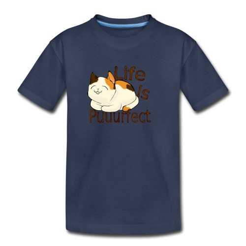 life is perfect when you're a cat - Kids' Premium T-Shirt