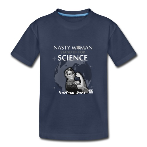 rosie the riveter nasty women march science tshirt - Kids' Premium T-Shirt