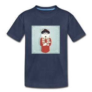 Hispter Dog - Kids' Premium T-Shirt