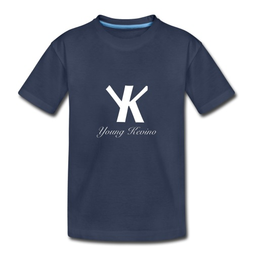 Young Kevino Official Logo (White) - Kids' Premium T-Shirt