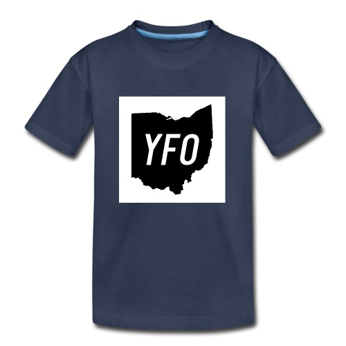 YFO Ohio Border Cutout Design - Kids' Premium T-Shirt