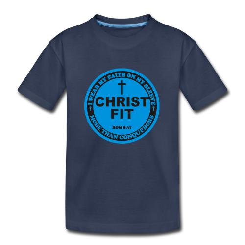 Round Christ Fit label - Kids' Premium T-Shirt