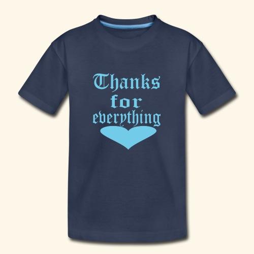 Thanks for everyting Blue heart - Kids' Premium T-Shirt