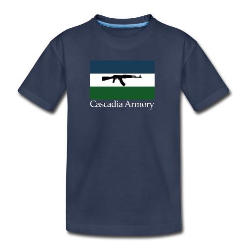 Cascadia Armory Logo White Text - Kids' Premium T-Shirt