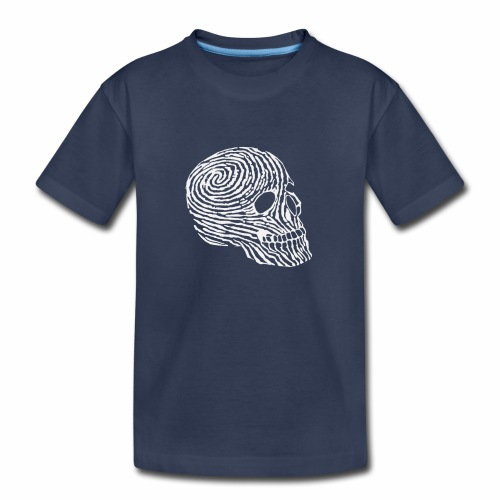Skull Human Fingerprint Funny - Kids' Premium T-Shirt