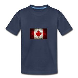 canada flag grunge - Kids' Premium T-Shirt
