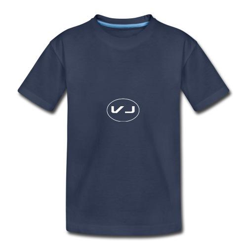 Vloggerjoe White circle lgo - Kids' Premium T-Shirt
