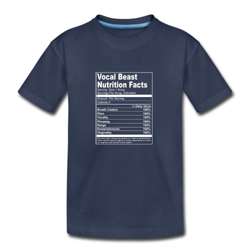 Vocal Nutrition White on Blk Streetwear - Kids' Premium T-Shirt