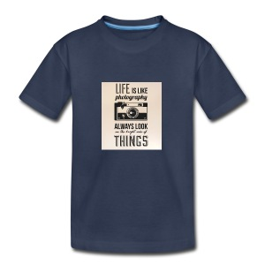 Life is like font b photography - Kids' Premium T-Shirt