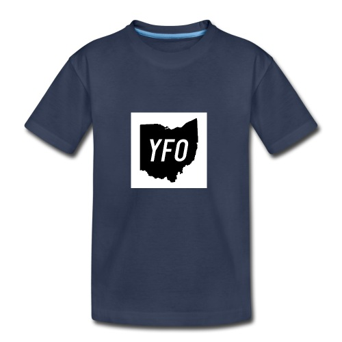 YFO Ohio Border Cutout Design - Kids' Premium T-Shirt