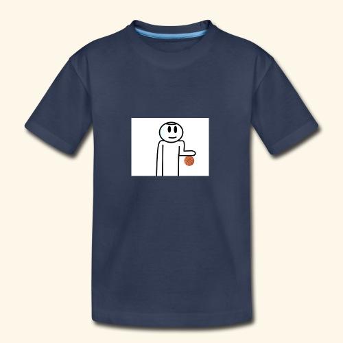 Dribbling a Basketball - Kids' Premium T-Shirt