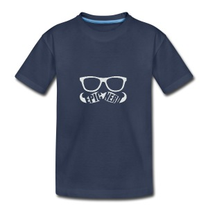 White Epic Nerd Logo - Kids' Premium T-Shirt