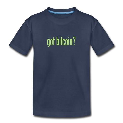 got bitcoin? (black) - Kids' Premium T-Shirt