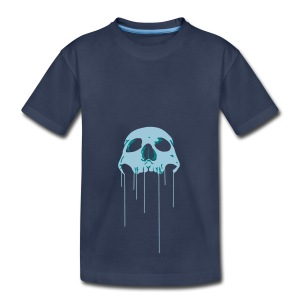 Skull blue bloody - Kids' Premium T-Shirt