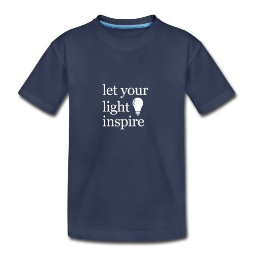Let Your Light Inspire Hoodie (white font) - Kids' Premium T-Shirt