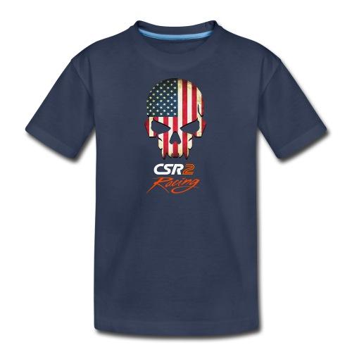 American Flag Skull CSR2 Racing - Kids' Premium T-Shirt