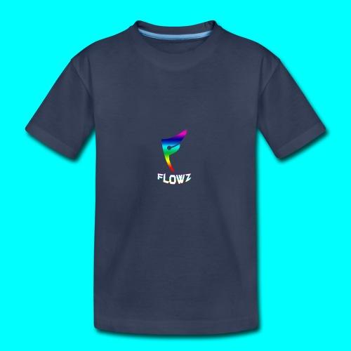 Multi-Colour Flowz Logo With Text - Kids' Premium T-Shirt