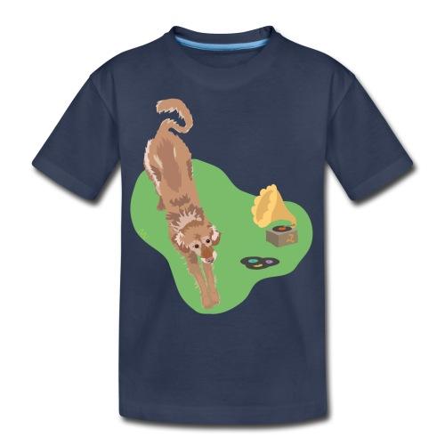 Golden Retriever Music - Kids' Premium T-Shirt