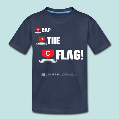 CAP THE FLAG (white) - Kids' Premium T-Shirt