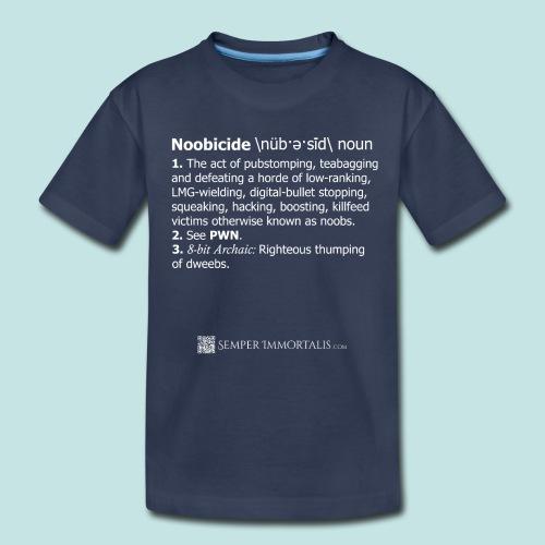 Noobicide (white) - Kids' Premium T-Shirt