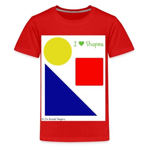 Hi I'm Ronald Seegers Collection-I Love Shapes - Kids' Premium T-Shirt