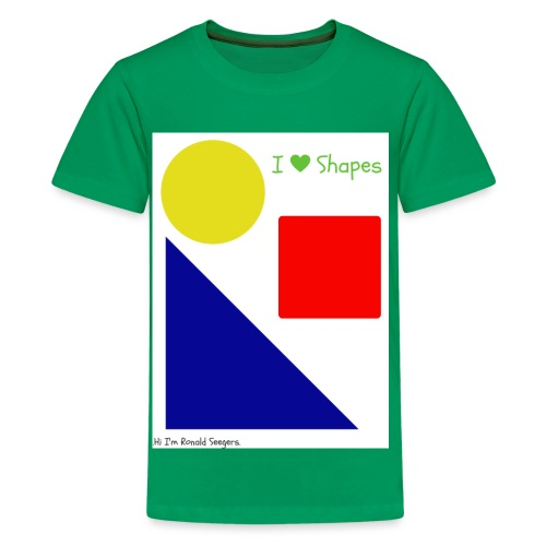 Hi I'm Ronald Seegers Collection-I Love Shapes - Kids' Premium T-Shirt