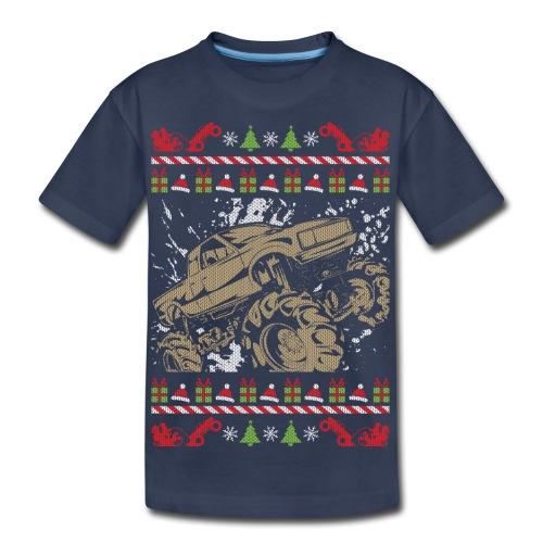 Ugly Christmas Mud Truck - Kids' Premium T-Shirt