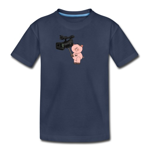 Hammie holding camera - Kids' Premium T-Shirt