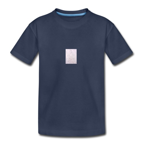 foot/ paw prints in the sand - Kids' Premium T-Shirt
