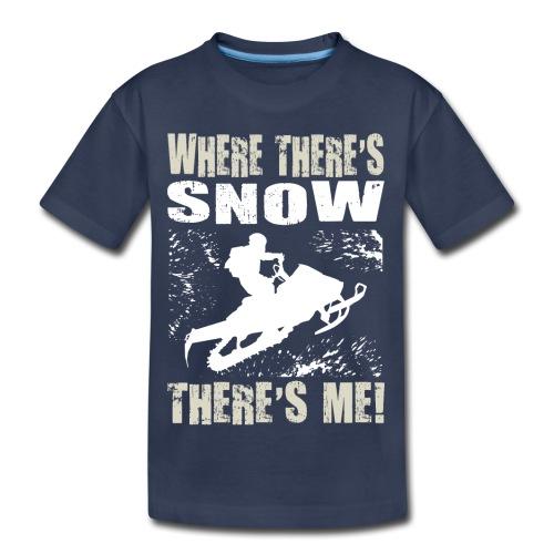 Snowmobile Snow Me - Kids' Premium T-Shirt