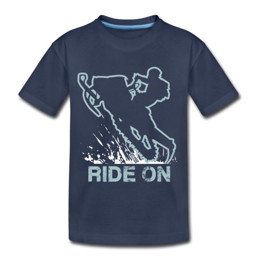 Snowmobile Ride On Sled - Kids' Premium T-Shirt