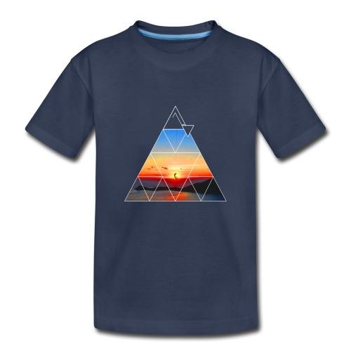 Climber in the sunset - Kids' Premium T-Shirt