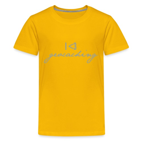 I love geocaching - Kids' Premium T-Shirt