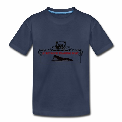 Fort Rock LOGO 1 Red For PNG - Kids' Premium T-Shirt