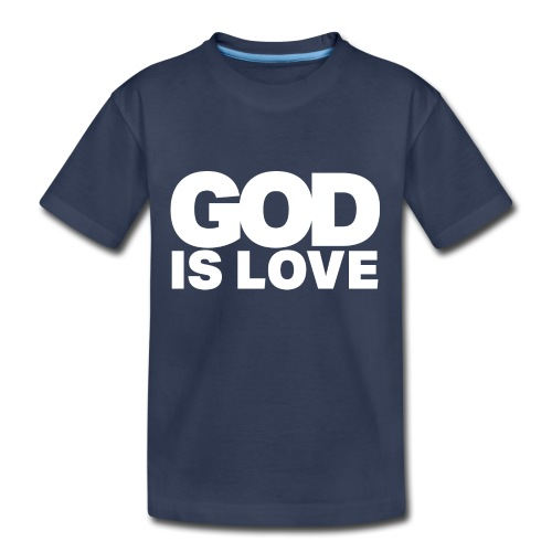 God Is Love - Ivy Design (White Letters) - Kids' Premium T-Shirt