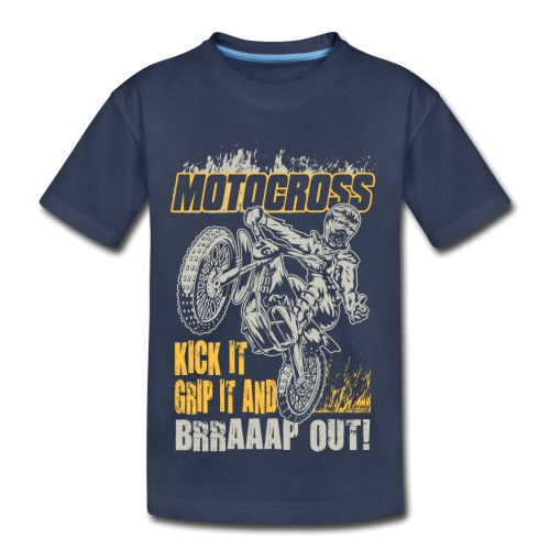 Motocross Kick It Stunt - Kids' Premium T-Shirt