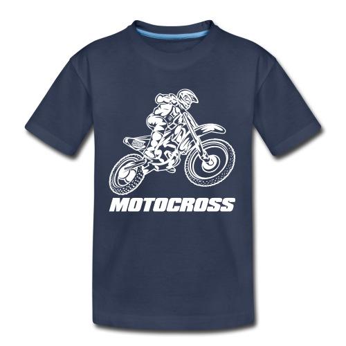 Motocross Logo White - Kids' Premium T-Shirt