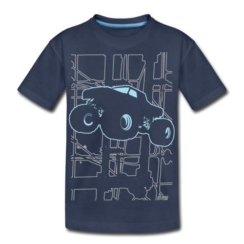 Monster Truck Electronica - Kids' Premium T-Shirt