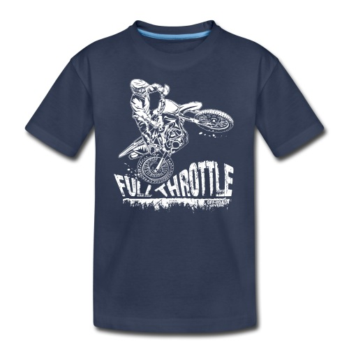 Dirt Biker Full Throttle - Kids' Premium T-Shirt