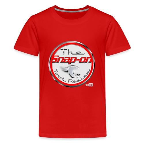 red logo white youtube - Kids' Premium T-Shirt