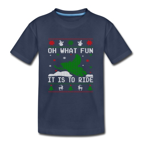 Oh What Fun Snowmobile Ugly Sweater style - Kids' Premium T-Shirt