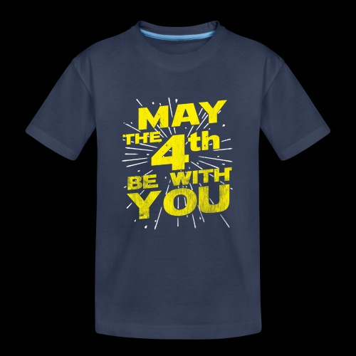 May The 4th Be With You Distressed - Kids' Premium T-Shirt