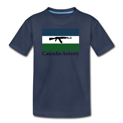 Cascadia Armory Logo - Kids' Premium T-Shirt