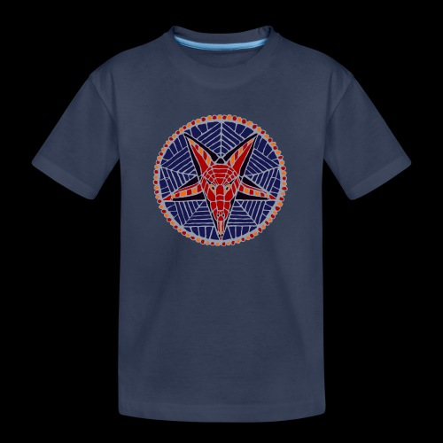 Corpsewood Stained-Glass Baphomet - Kids' Premium T-Shirt