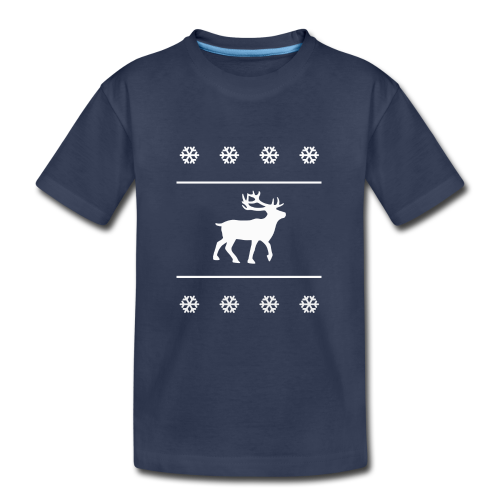 Reindeer with snowflakes - Kids' Premium T-Shirt