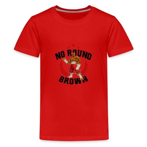 No Round Brown (white) - Kids' Premium T-Shirt
